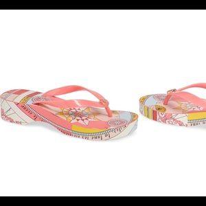 Tory Burch Wedge Flip Flops Women's 11 NWT